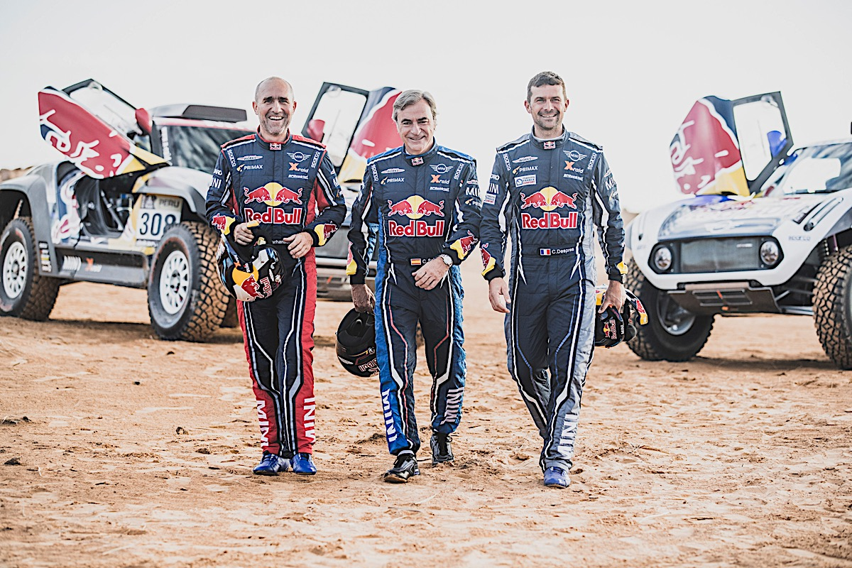 Stephane Peterhansel Carlos Sainz and Cyril Despres